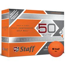 Wilson Staff Fifty Elite Orange Personalized Golf Balls
