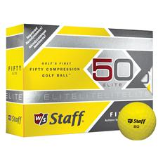 Wilson Staff Fifty Elite Yellow Personalized Golf Balls