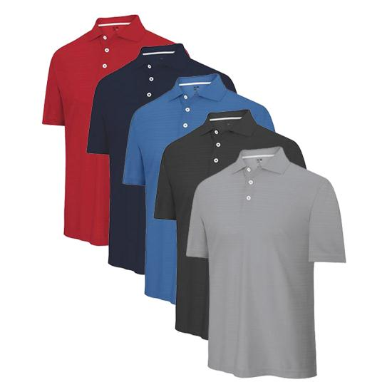 Adidas Men's ClimaCool Textured Solid Polo