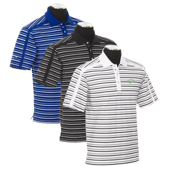 Callaway Golf Men's Chev Utopia Golf Logo Stripe Polo