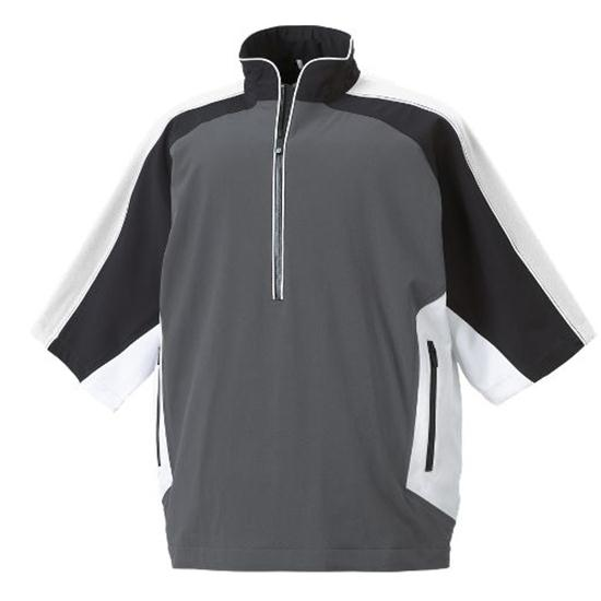 Footjoy men 39 s logo tour collection short sleeve rain shirt for Footjoy shirts with titleist logo