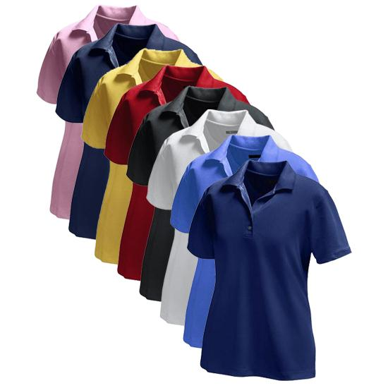 Greg Norman Core Performance Micro Pique Logo Polo for Women