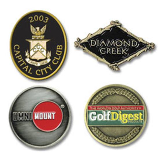 Logo Golf Die Struck Ball Marker