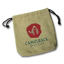 Logo Golf Custom Logo Embroidered Canvas Pouch