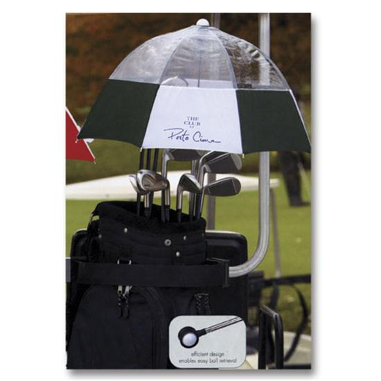 Logo Golf Golf Club Umbrella- 32 Inch Arc Size