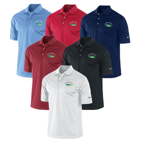 Nike Men's Dri-Fit Solid Utopia Golf Logo Polo