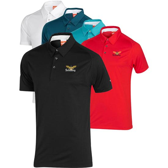Puma Men's Custom Logo Crestable Tech Polo