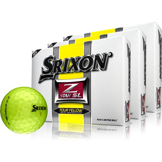 Srixon Z-Star SL Tour Yellow Golf Balls - 3 Pack