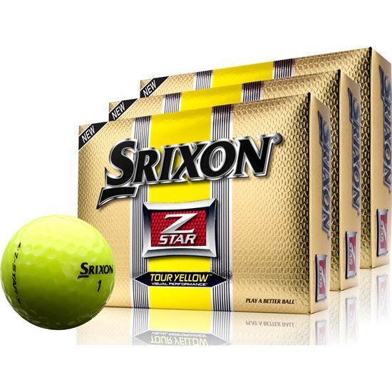 Srixon Z-Star Tour Yellow Golf Balls - 3 Pack