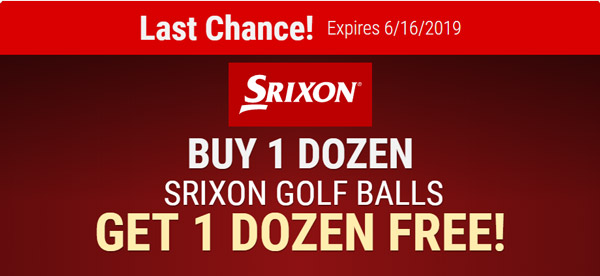 Buy 1 Get 1 Free on Srixon Golf Balls