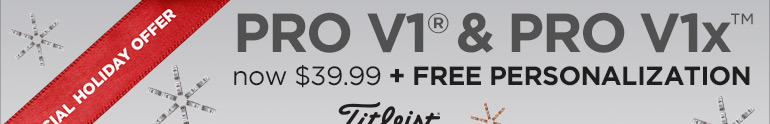 Titleist Special Holiday Offer - Pro V1 now $39.99 + Free Personalization