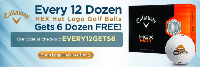 Every 12 Dozen Callaway Hex Hot Logo Golf Balls Gets 6 Dozen.