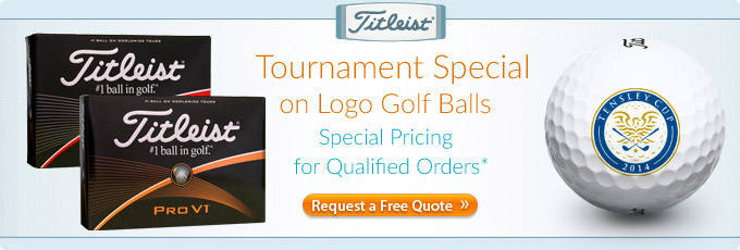 Tournament Specials on Titleist Custom Logo Golf Balls