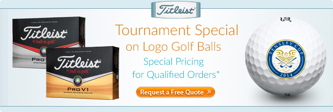 Tournament Specials on Titleist Custom Logo Golf Balls