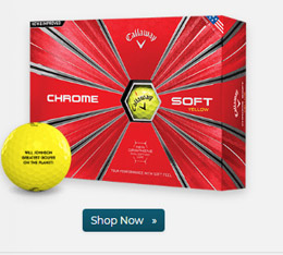 Callaway Golf Chrome Soft Yellow Golf Balls