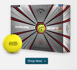 Callaway Golf Chrome Soft X Yellow Golf Balls