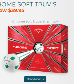 Callaway Golf Chrome Soft Truvis Shamrock Golf Balls