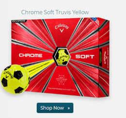 Callaway Golf Chrome Soft Truvis Yellow Golf Ball