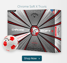 Callaway Golf Chrome Soft X Truvis Red Golf Balls