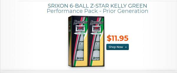 Srixon Z Star Golf Balls w Iridescent Cover 6 Ball Pk