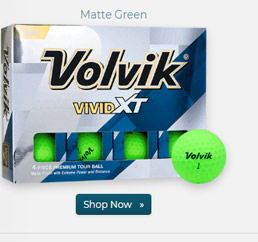 Volvik Vivid XT Matte Green Golf Balls 2018 Model