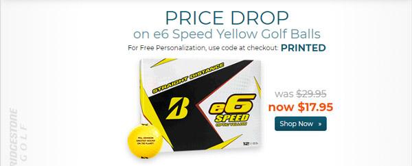Bridgestone e6 Speed Yellow Golf Balls