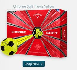 Callaway Golf Chrome Soft Truvis Yellow Golf Ball