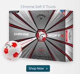 Callaway Golf Chrome Soft X Truvis Red Golf Balls