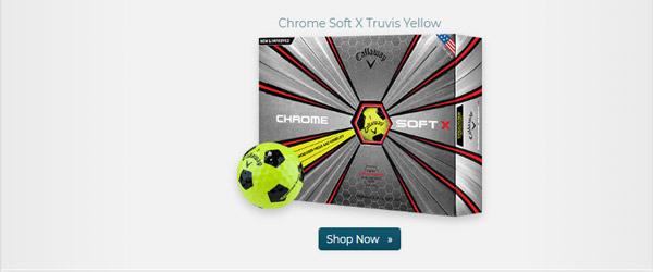Callaway Golf Chrome Soft X Truvis Yellow Golf Balls