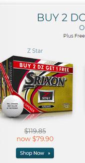 Srixon Z Star Golf Balls Buy 2 DZ Get 1 DZ Free