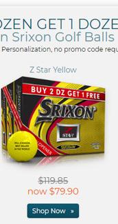 Srixon Z Star Yellow Golf Balls Buy 2 DZ Get 1 DZ Free