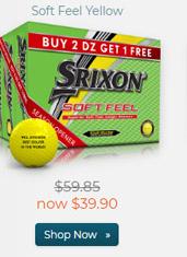 Srixon Soft Feel Yellow Golf Balls Buy 2 Get 1 Free