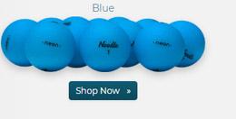 Taylor Made Noodle Neon Matte Blue Golf Balls