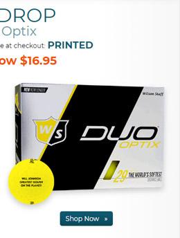 Wilson Staff Duo Optix Matte Yellow Golf Ball