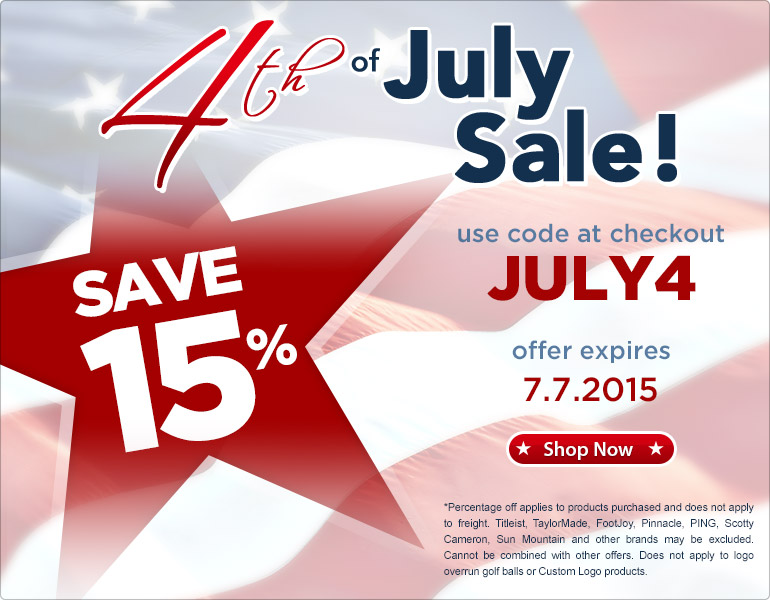 July 4th Clearance Sale! Take 15% OFF Your Entire Purchase, Limited Time