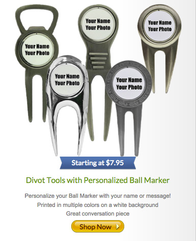 Divot Tools with Personalized Ball Markers