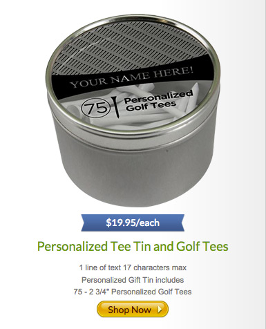 Personalized Tee Tin and Golf Tees