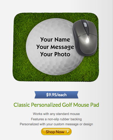 Classic Personalized Golf Mouse Pad
