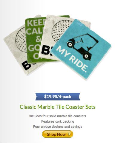 Classic Marble Tile Coaster Sets