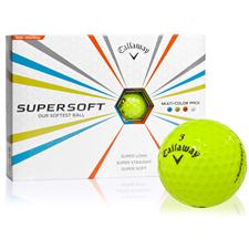 Callaway Golf Supersoft Lime ID-Align Golf Balls