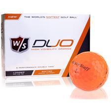 Wilson Staff Duo Orange ID-Align Golf Balls