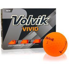 Volvik Vivid Matte Orange ID-Align Golf Balls