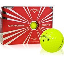 Callaway Golf Prior Generation Chrome Soft Yellow Personalized Golf Balls