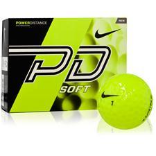 Nike Power Distance Soft Yellow Personalized Golf Balls