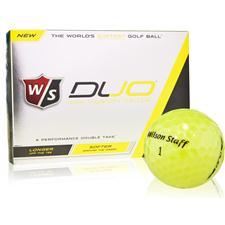 Wilson Staff Duo Yellow Personalized Golf Balls