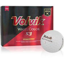 Volvik White Color S3 Personalized Golf Balls