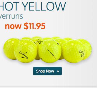 X2 Hot+ Yellow Logo Overrun Golf Balls