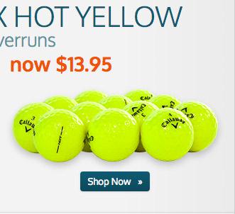 Callaway HEX Hot Yellow Logo Overruns
