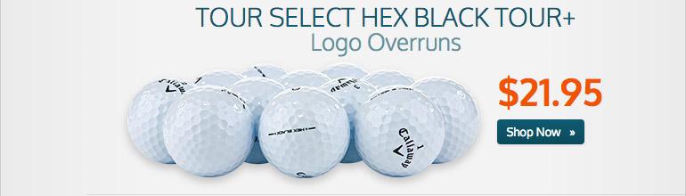 Tour Select HEX Black Tour+ Logo Overruns