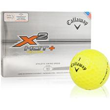 Callaway Golf X2 Hot+ Yellow Personalized Golf Balls